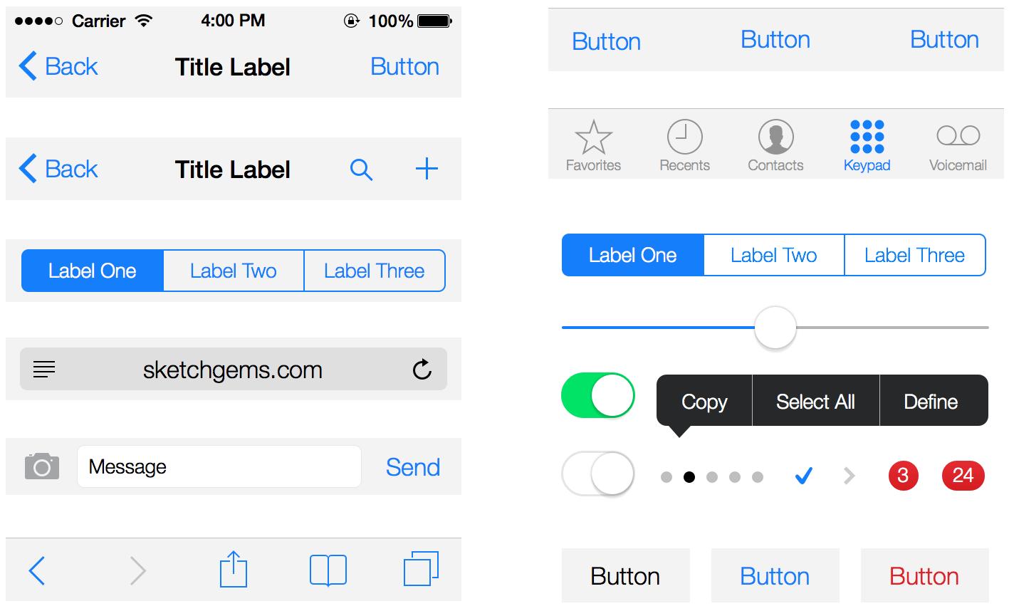 iOS-7-UI-Kit-Lite