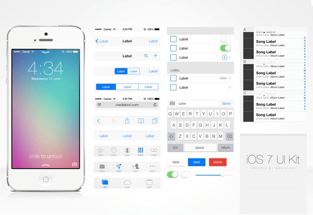 iOS7_UI_Kit_light