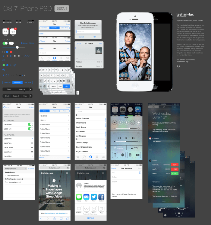 teehanlax-iOS 7-iPhone-kit